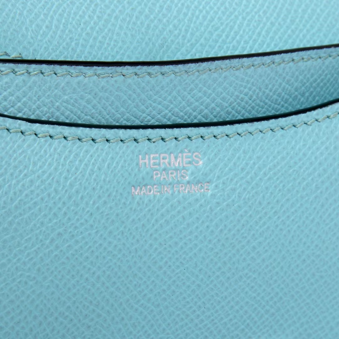 Hermès(爱马仕)Constace空姐 19 银扣 马卡龙蓝 epsom皮