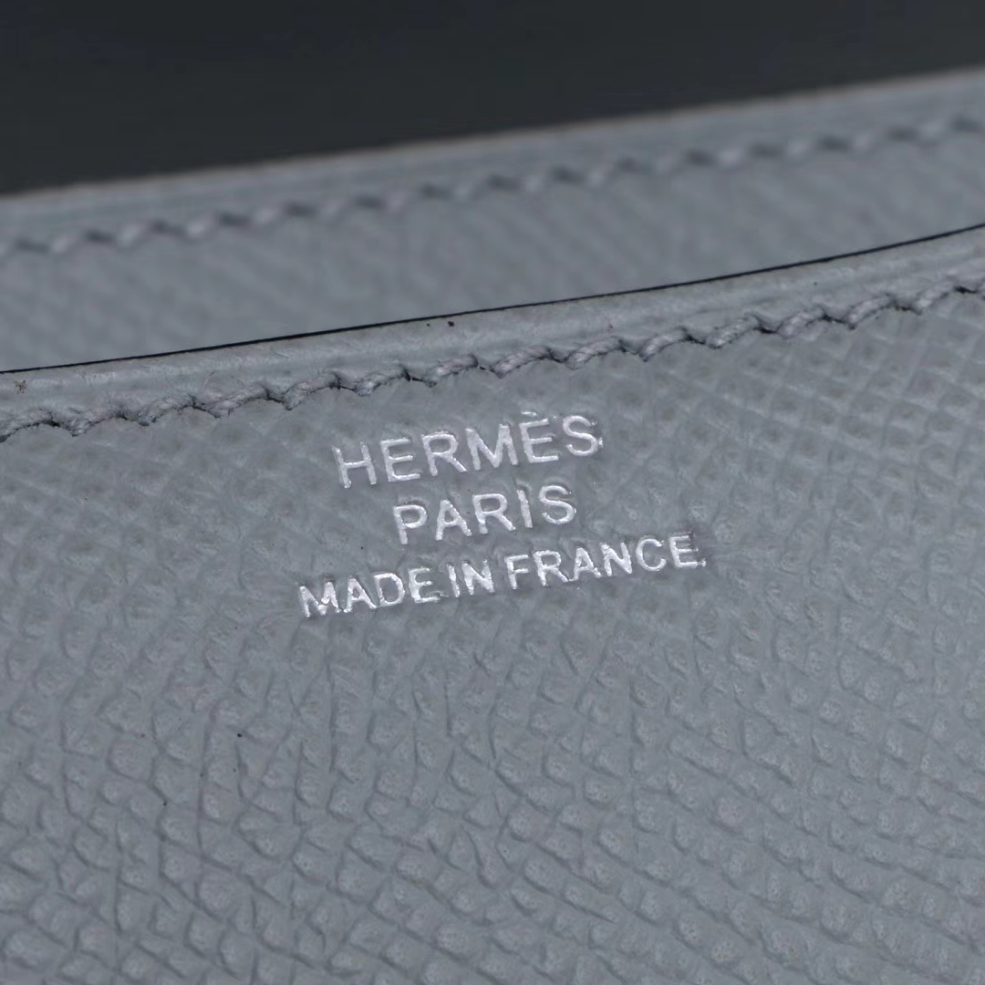 Hermès(爱马仕)Constace空姐 19 银扣 冰川灰 epsom皮
