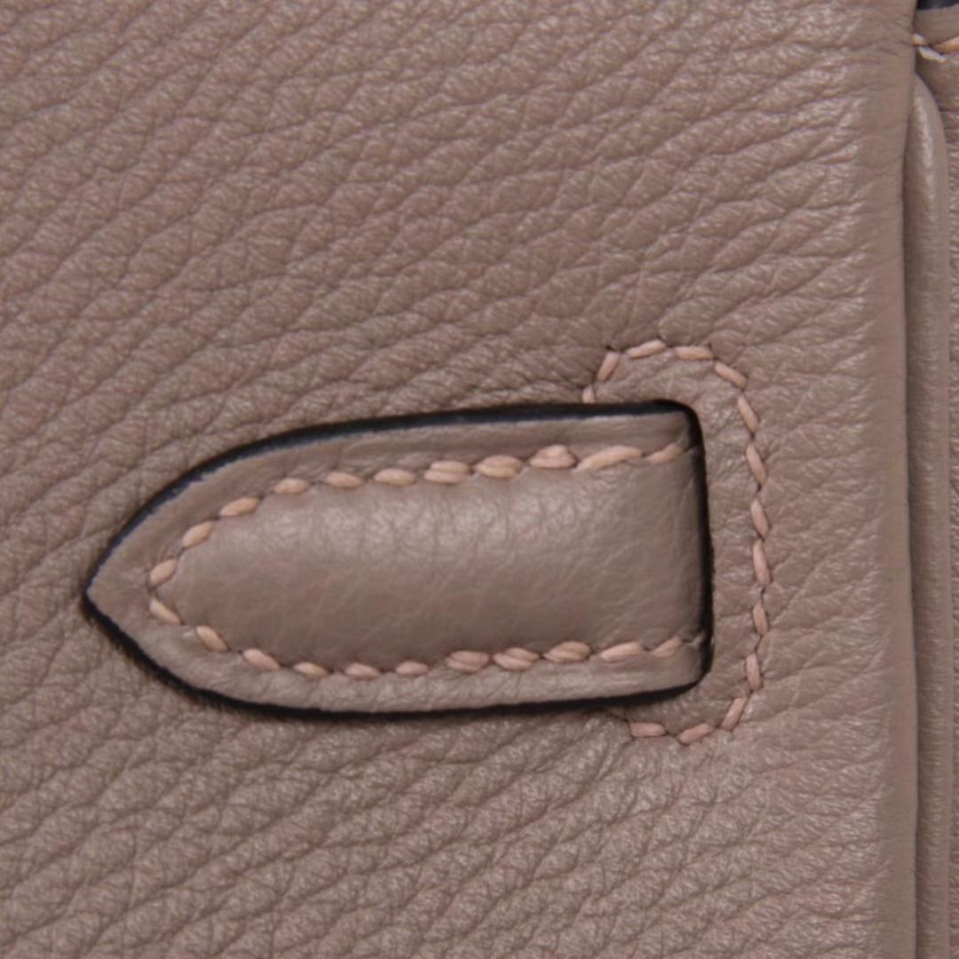 Hermès(爱马仕)Birkin铂金包 沥青灰 Togo 银扣 30CM