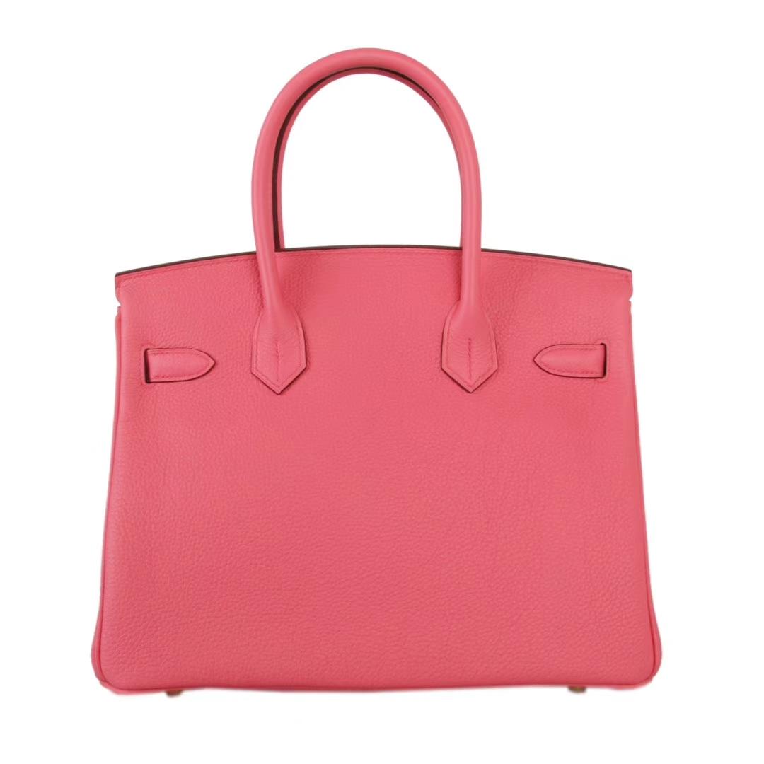 Hermès(爱马仕)Birkin铂金包 唇膏粉 Togo 金扣 30CM