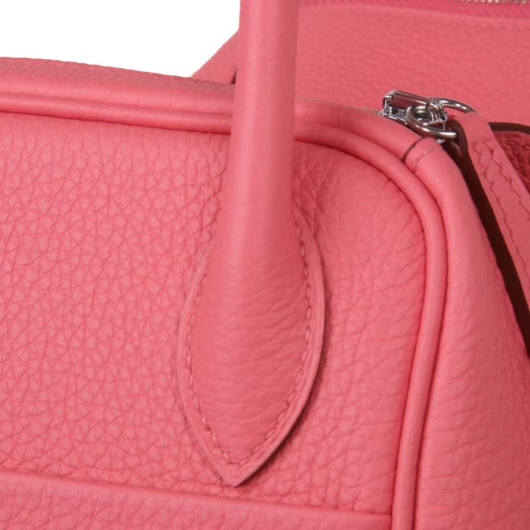 Hermès(爱马仕)Lindy琳迪包 唇膏粉 银扣 Togo 30cm 现货