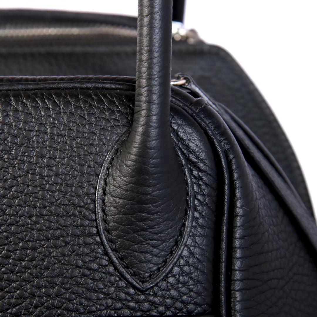 Hermès(爱马仕)Lindy琳迪包 黑色  银扣 Togo 26cm