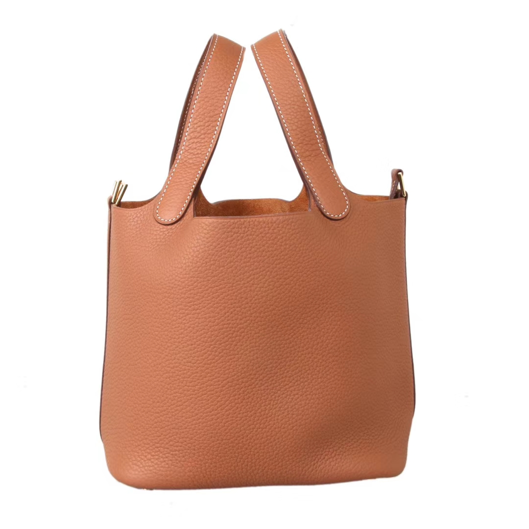 Hermès(爱马仕)Picotin菜篮子 金棕色 Togo 金扣 22cm