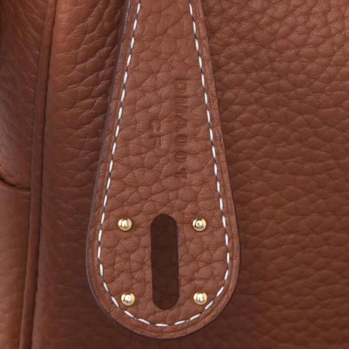Hermès(爱马仕)mini lindy琳迪包 驼色 taurillon clemence 金扣 20cm