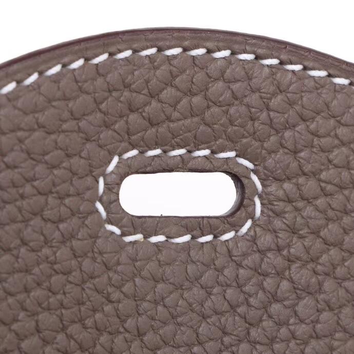 Hermès(爱马仕)mini lindy琳迪包 ck18大象灰 taurillon clemence 银扣 20cm