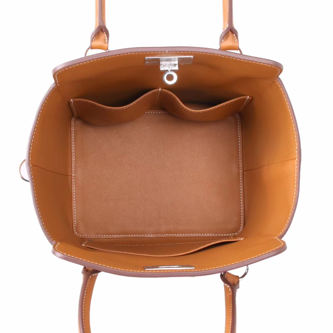 Hermès(爱马仕)Toolbox牛奶盒 金棕色 原厂御用顶级Swift 皮 20cm