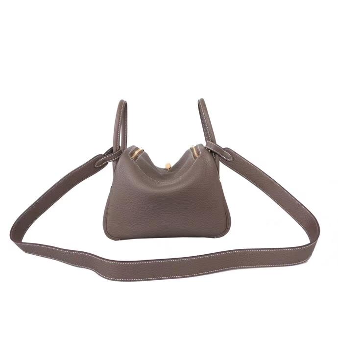 Hermès(爱马仕)mini lindy 大象灰 ck18 taurillon clemence 金扣 20cm