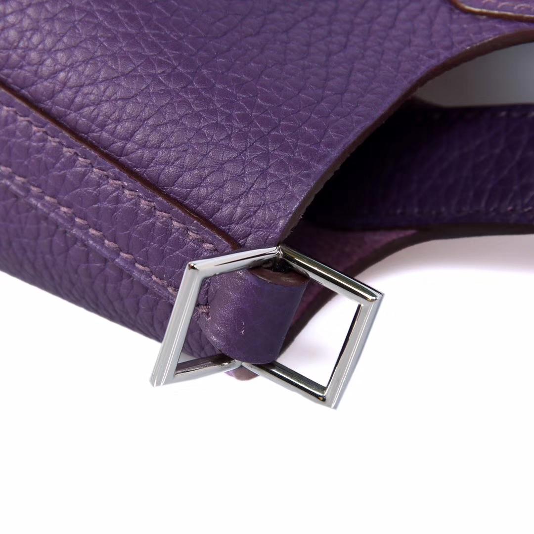 Hermès(爱马仕)Picotin菜篮包 极度紫 Togo 银扣 18cm