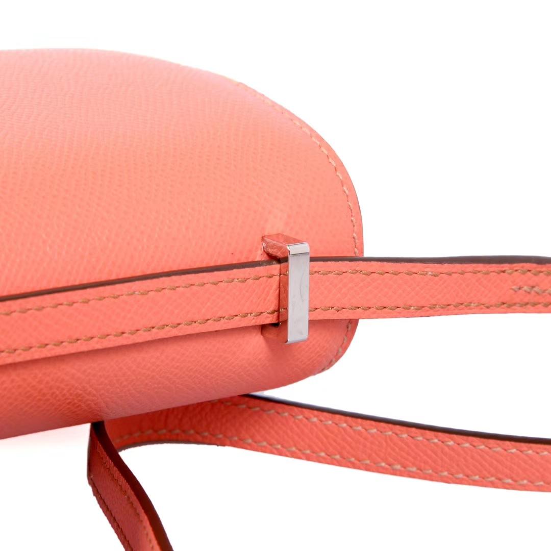 Hermès(爱马仕)Constace空姐包 火烈鸟粉 原厂御用epsom 银扣 19cm