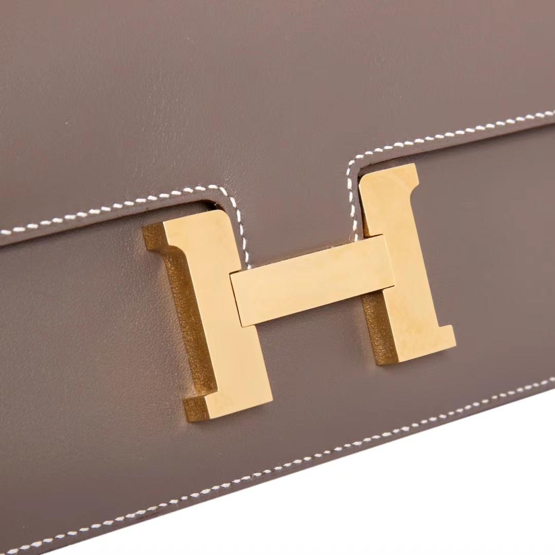 Hermes爱马仕 Constance空姐包 大象灰 原厂御用顶级Swift 皮 金扣 26cm