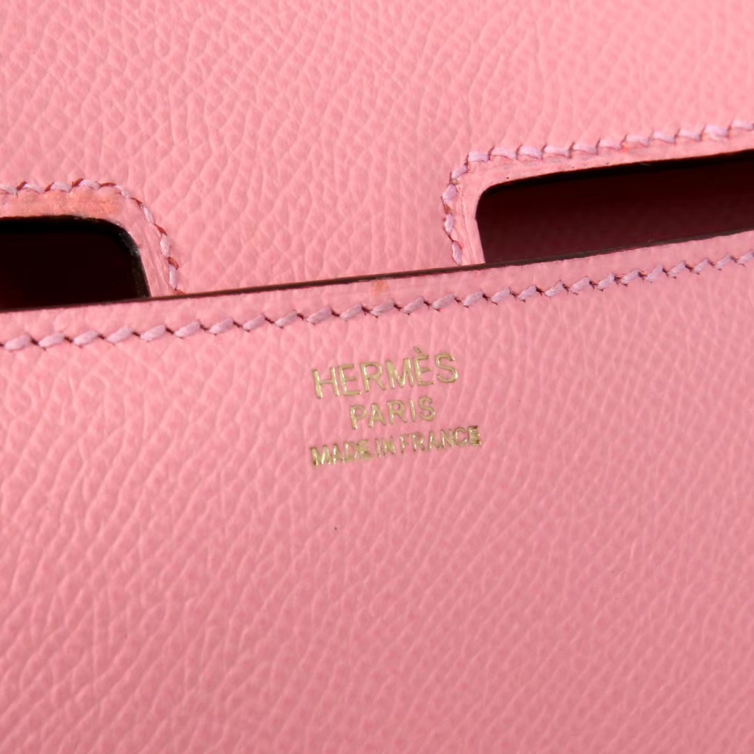 Hermes爱马仕 Constance空姐包 奶昔粉 原厂御用顶级Epsom皮 金扣 26cm