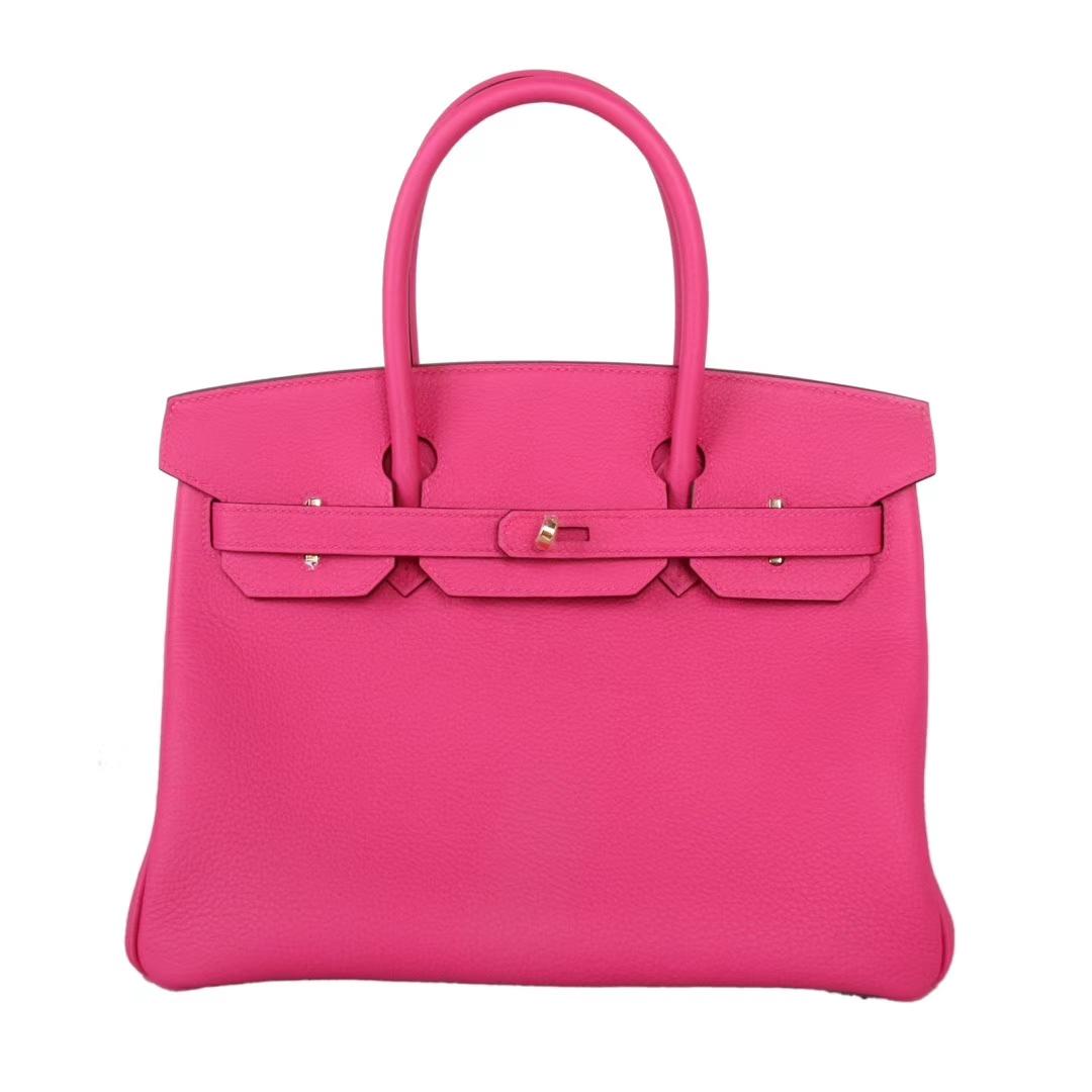 Hermès(爱马仕)Birkin铂金包 玫瑰紫 togo 金扣 30cm