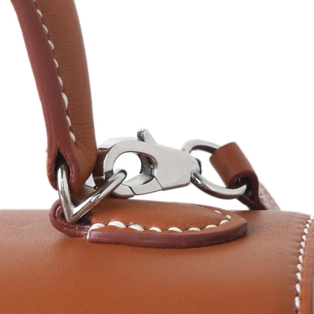 Hermès(爱马仕)Kelly picnic mini 编织凯莉包 银扣 22cm