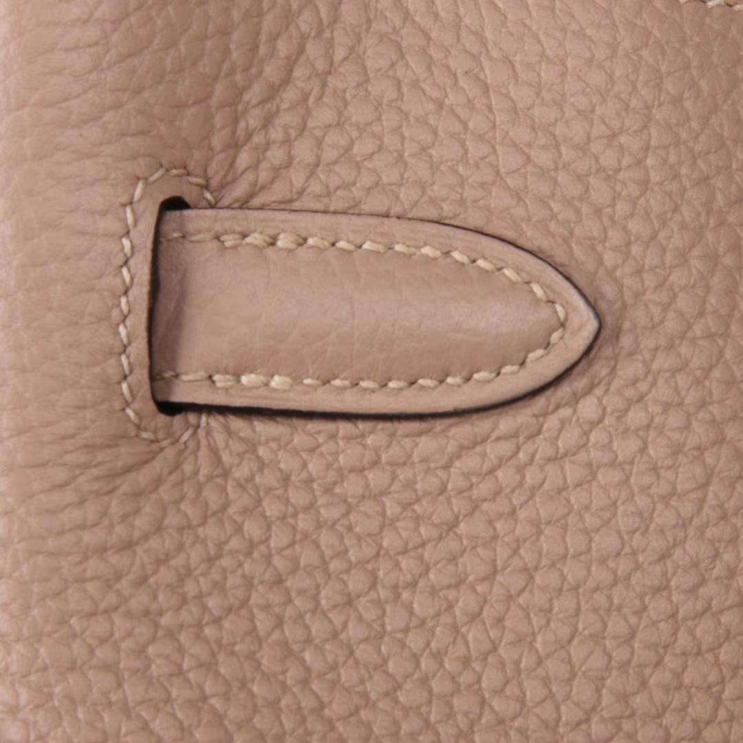 Hermès(爱马仕)soKelly单肩包 togo 斑鸠灰 银扣 22cm
