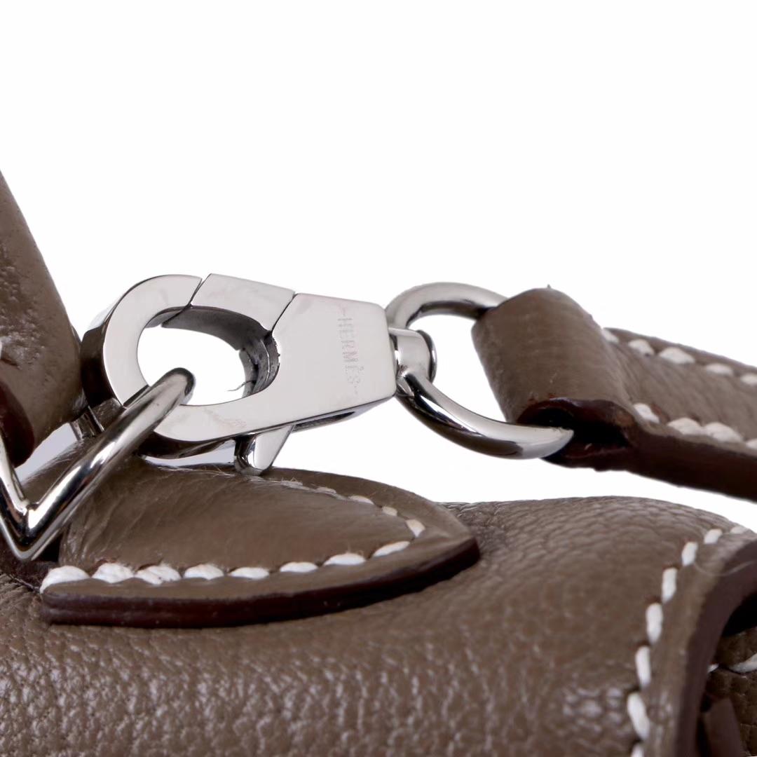 Hermès(爱马仕)Minikelly迷你凯莉 大象灰 原厂羊皮 银扣 2代