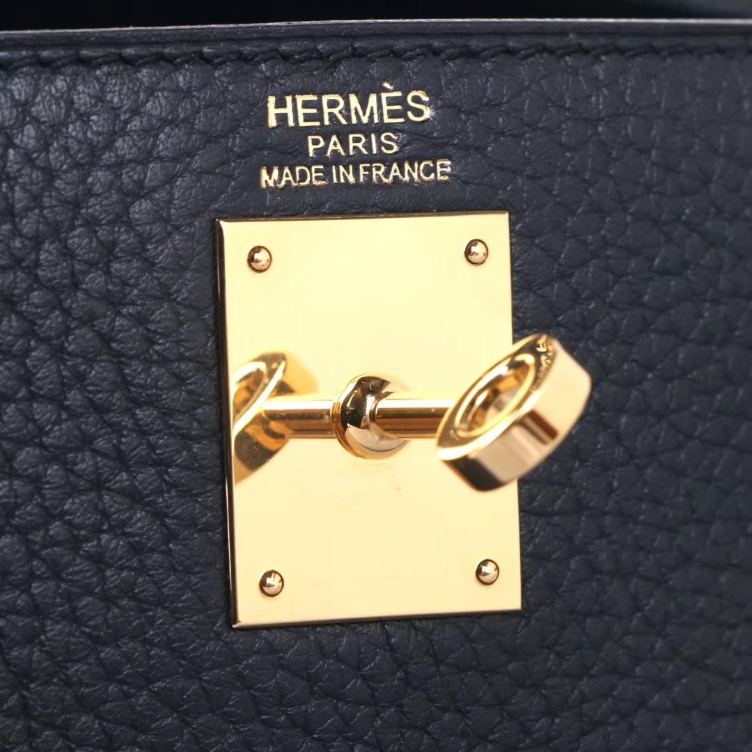 Hermès(爱马仕)kelly ado 双肩包 黑色 togo 金扣 22cm