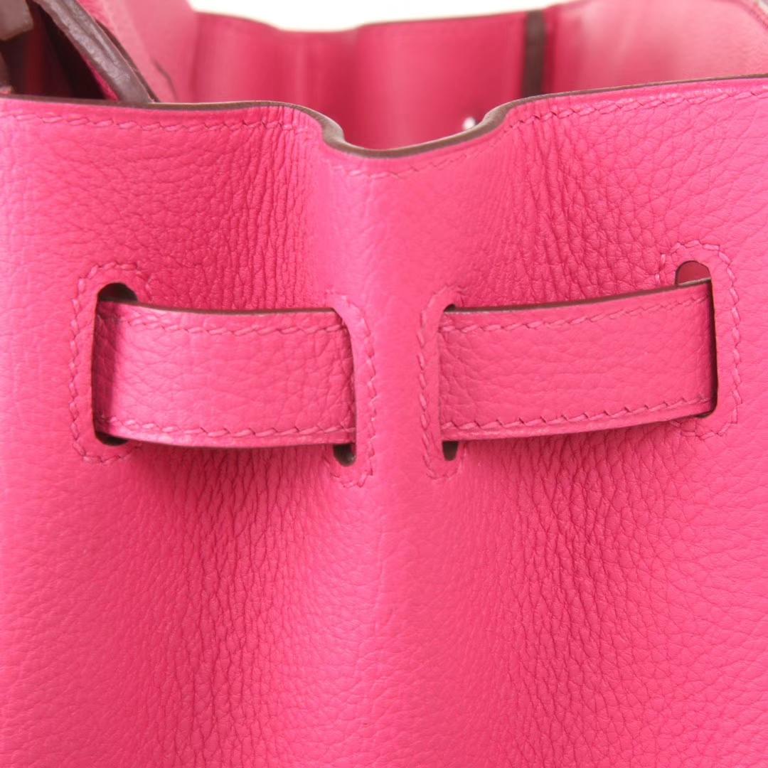 Hermès(爱马仕)Birkin铂金包 玫瑰紫 togo 银扣 30cm