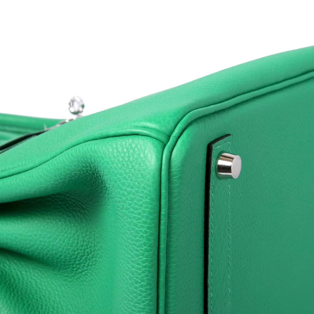 Hermès(爱马仕)Birkin铂金包 竹子绿 togo 银扣 30cm