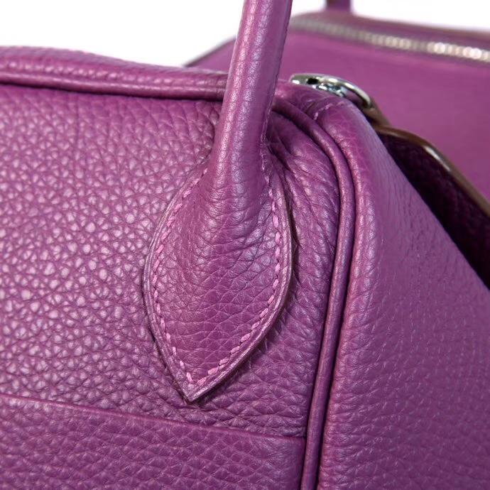 Hermès(爱马仕)Lindy琳迪包 海葵紫 银扣 30CM 现货