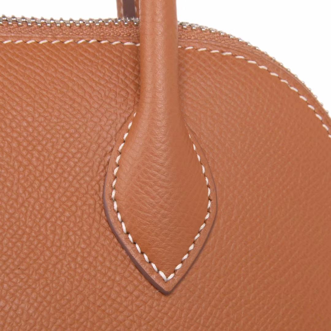 Hermès(爱马仕)Bolide保龄球包 金棕色 原厂御用epsom皮 银扣