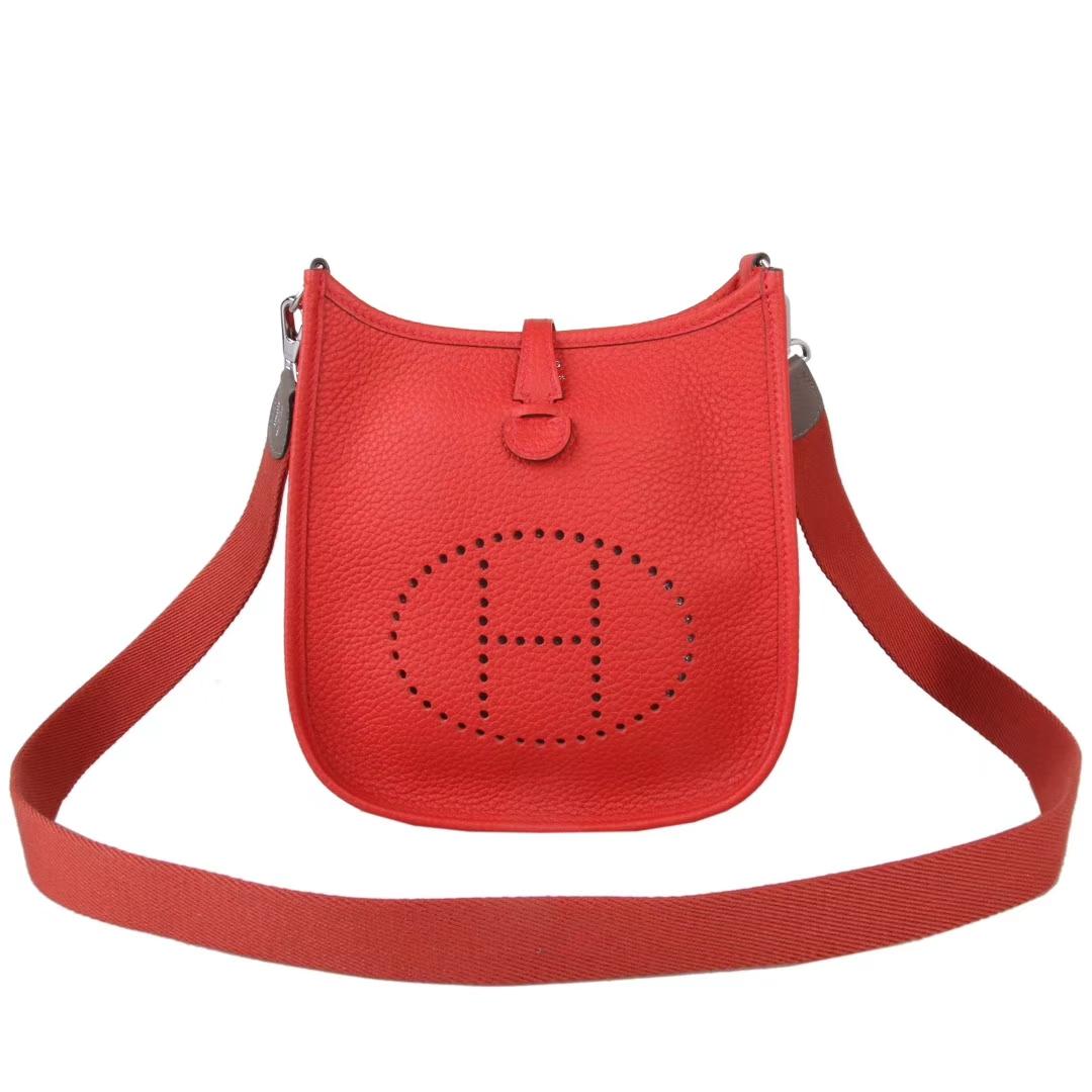 Hermès(爱马仕)Mini Evelyne 红色 togo