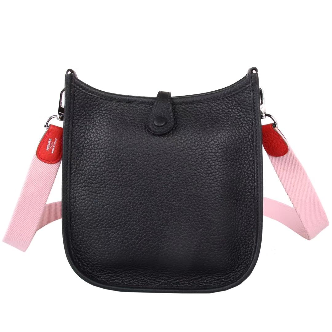 Hermès(爱马仕)Mini Evelyne 黑色 togo