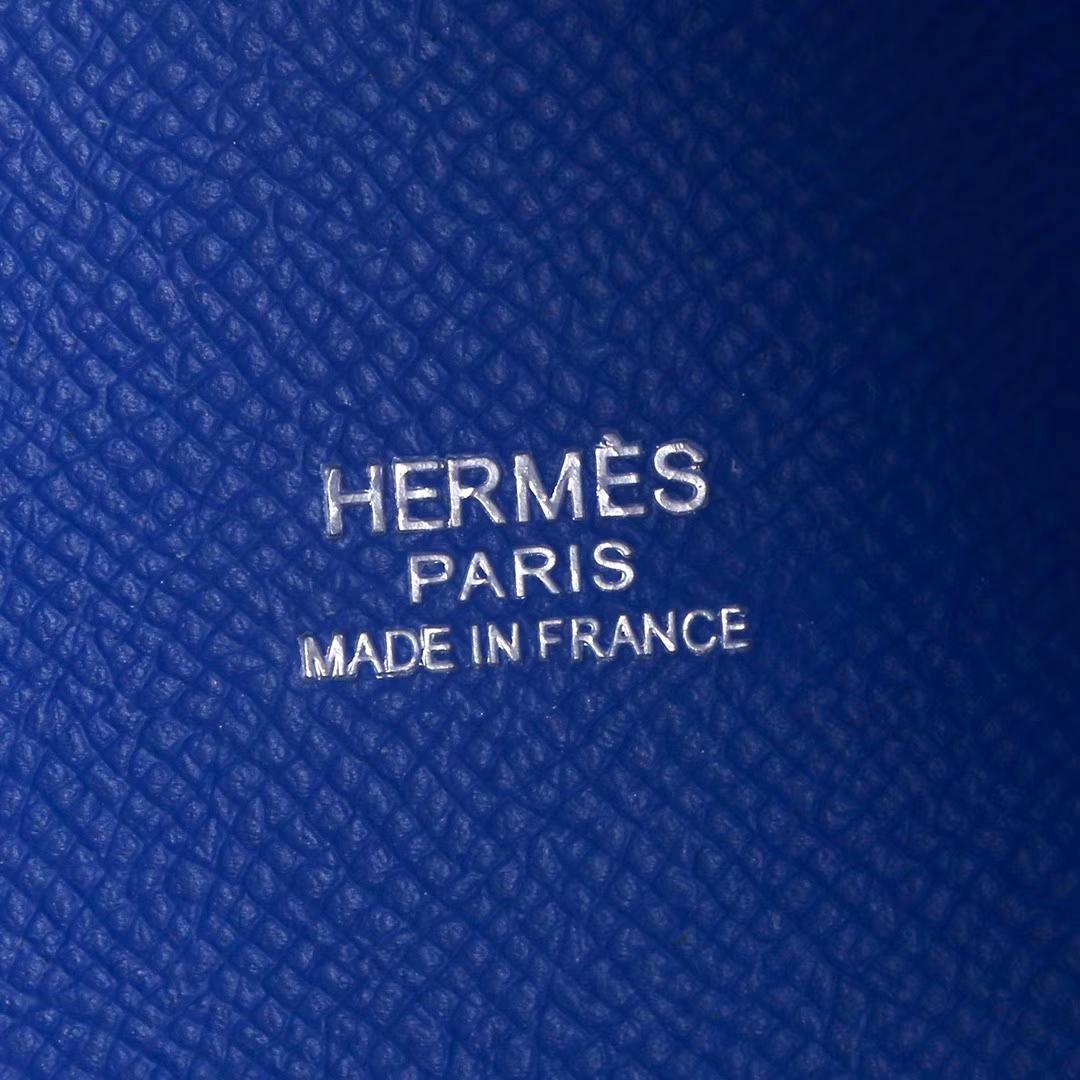 Hermès(爱马仕)Picotin菜篮 坦桑尼亚蓝 编织手柄 原厂epsom皮 银扣 18cm