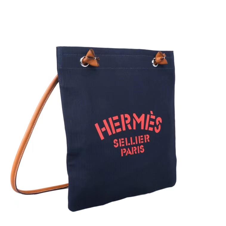 Hermès(爱马仕)19年新款 Aline艾琳包 午夜蓝 帆布系列 百搭款