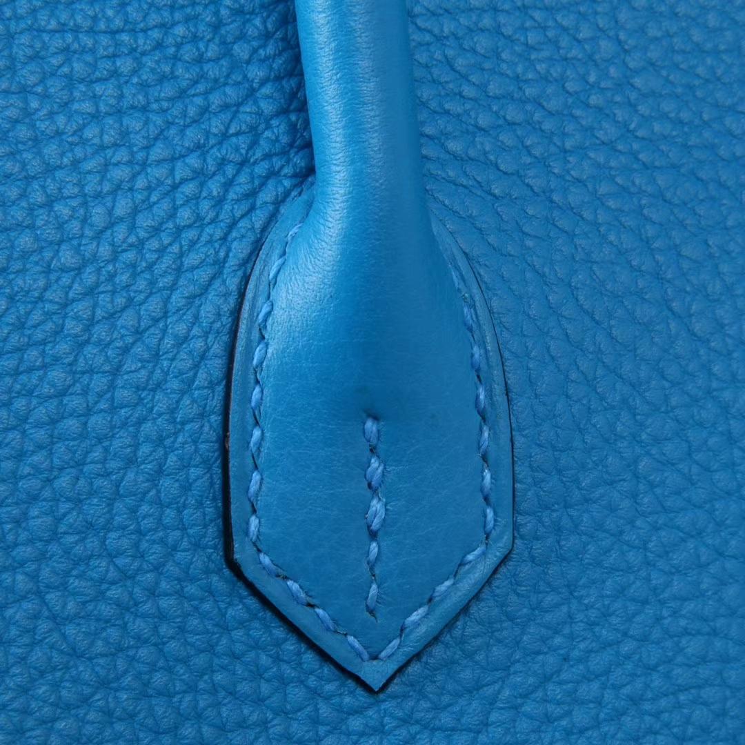 Hermès(爱马仕)birkin铂金包 B3坦桑尼亚蓝 togo 银扣 30cm