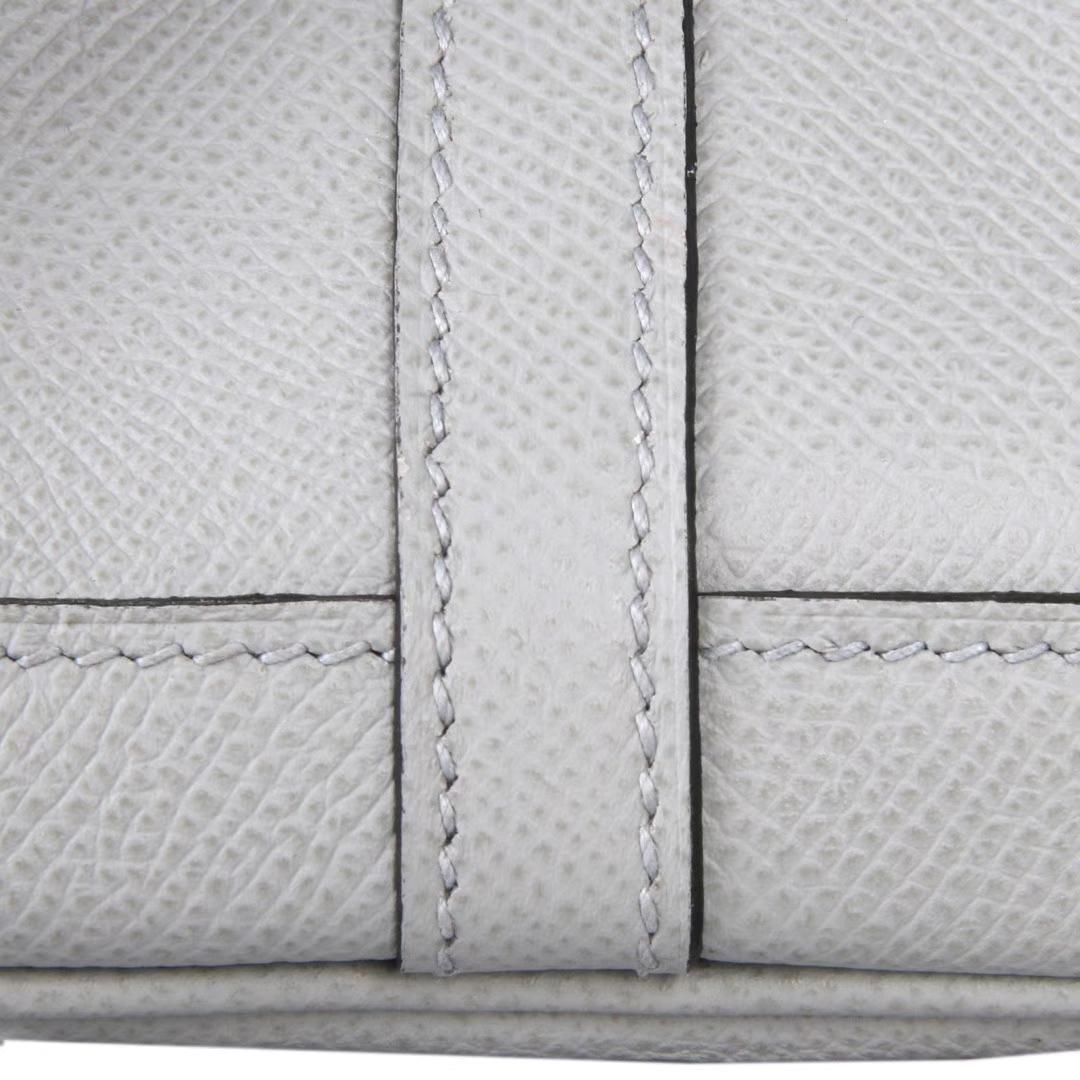 Hermès(爱马仕)花园包 冰川蓝 epsom皮 Togo 银扣 30CM