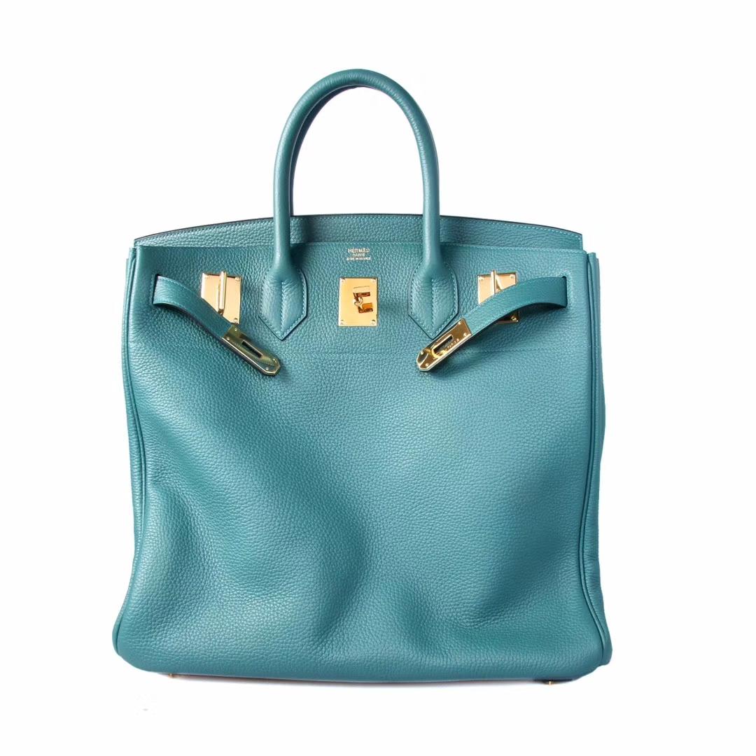 Hermès(爱马仕)HAC 40 孔雀绿 银扣 togo