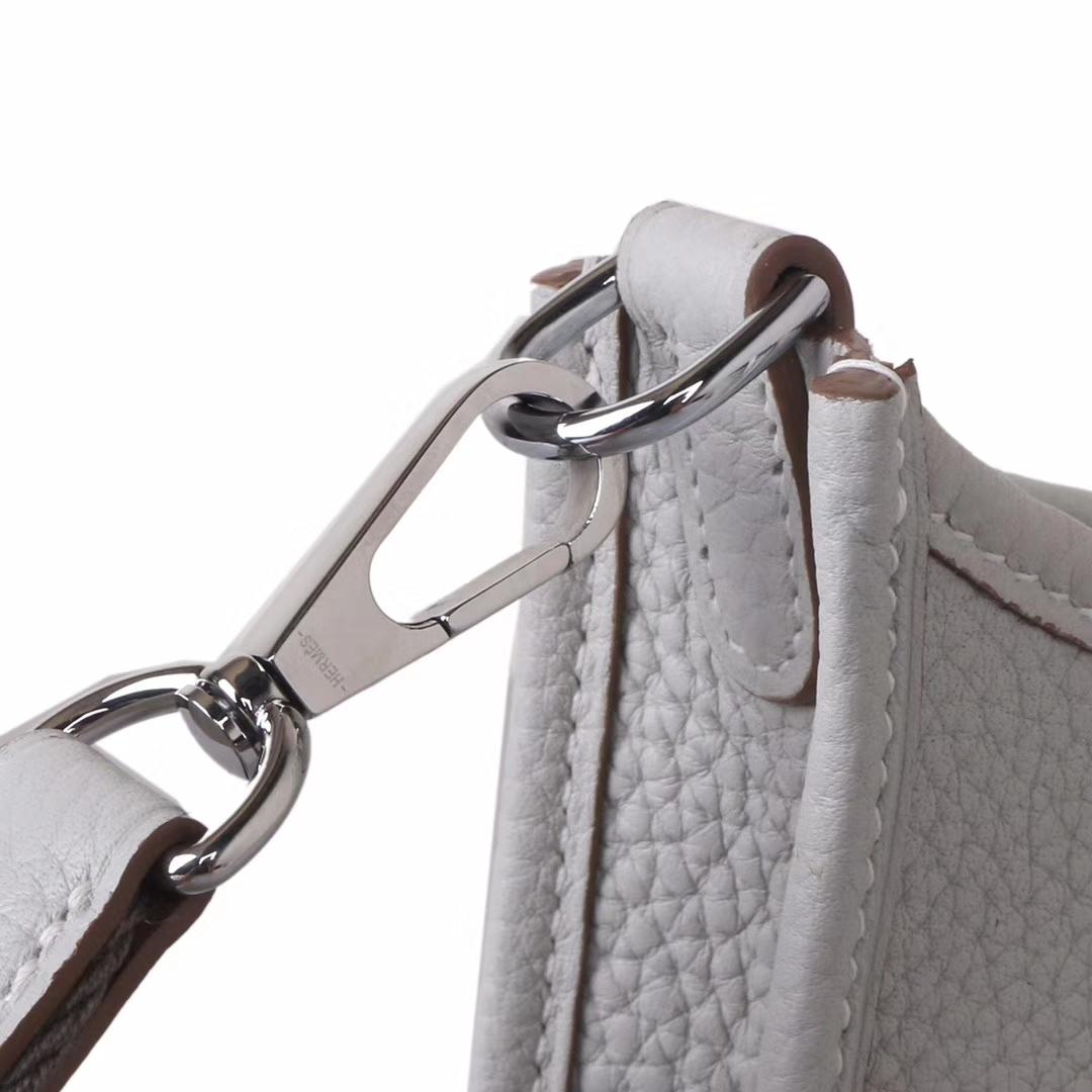 Hermès(爱马仕)mini evelyne 珍珠灰 银扣 togo 17cm