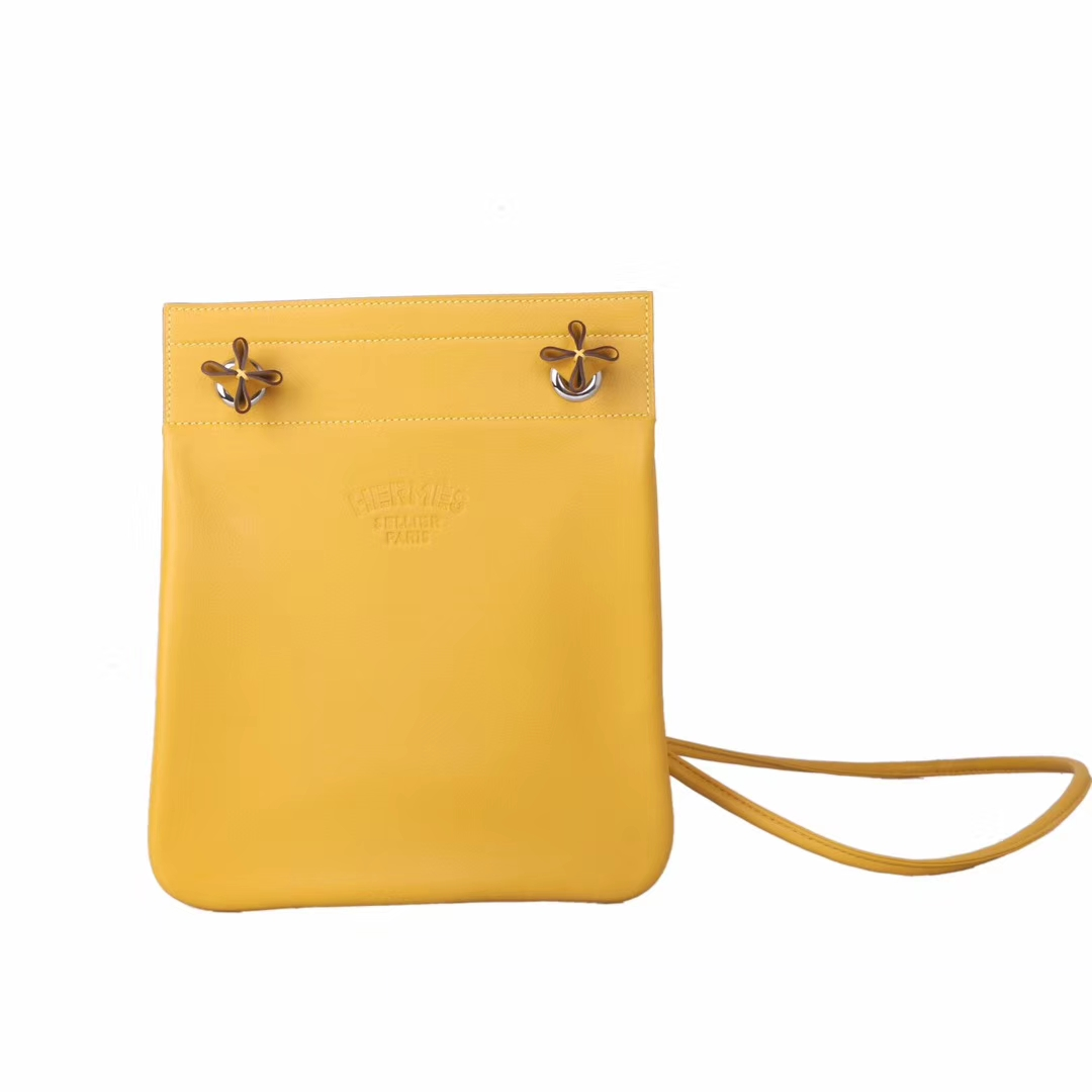 Hermès(爱马仕)19年新款 Aline艾琳包 9D琥珀黄 原版swift皮 百搭款 24cm