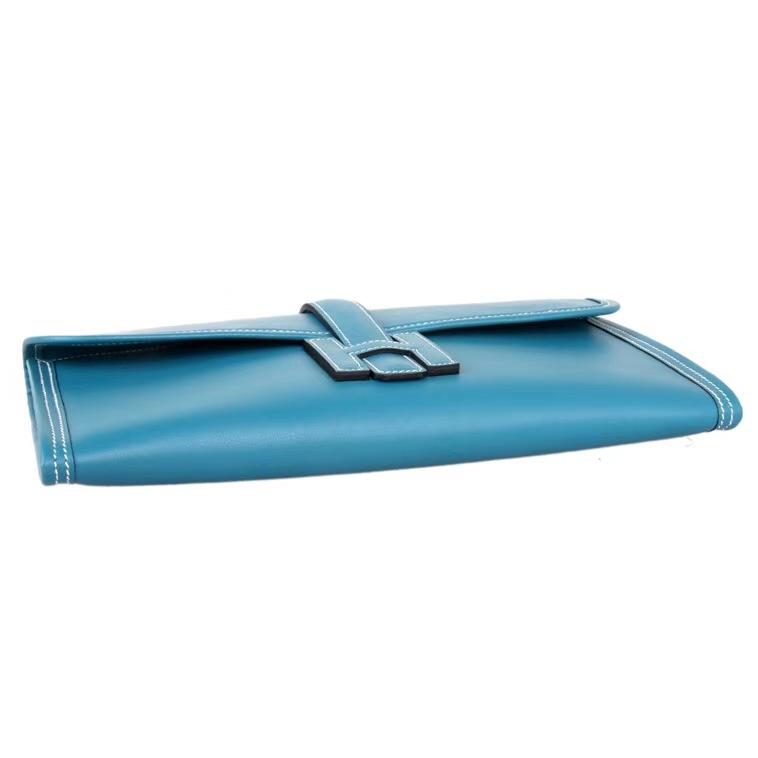 Hermès(爱马仕)Jige 手包 CK75牛仔蓝 epsom皮 28cm