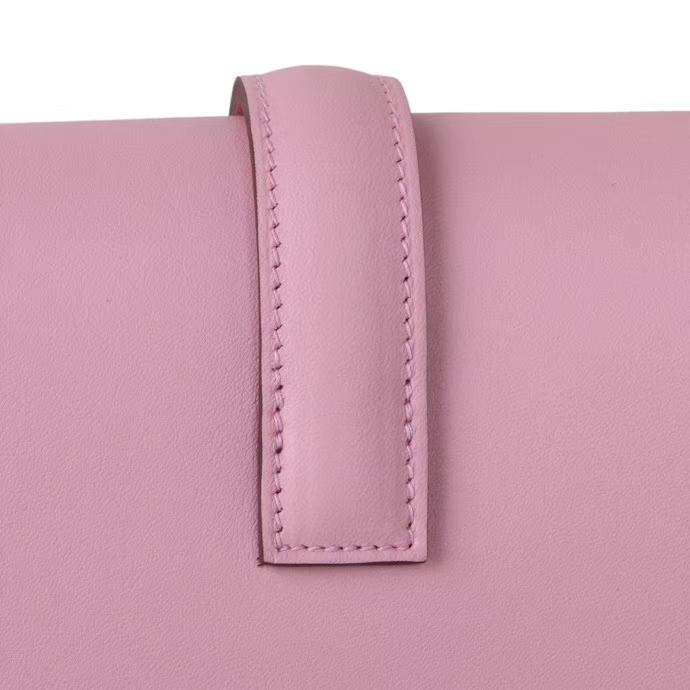 Hermès(爱马仕)Jige 手包 5P樱花粉 epsom皮 28cm
