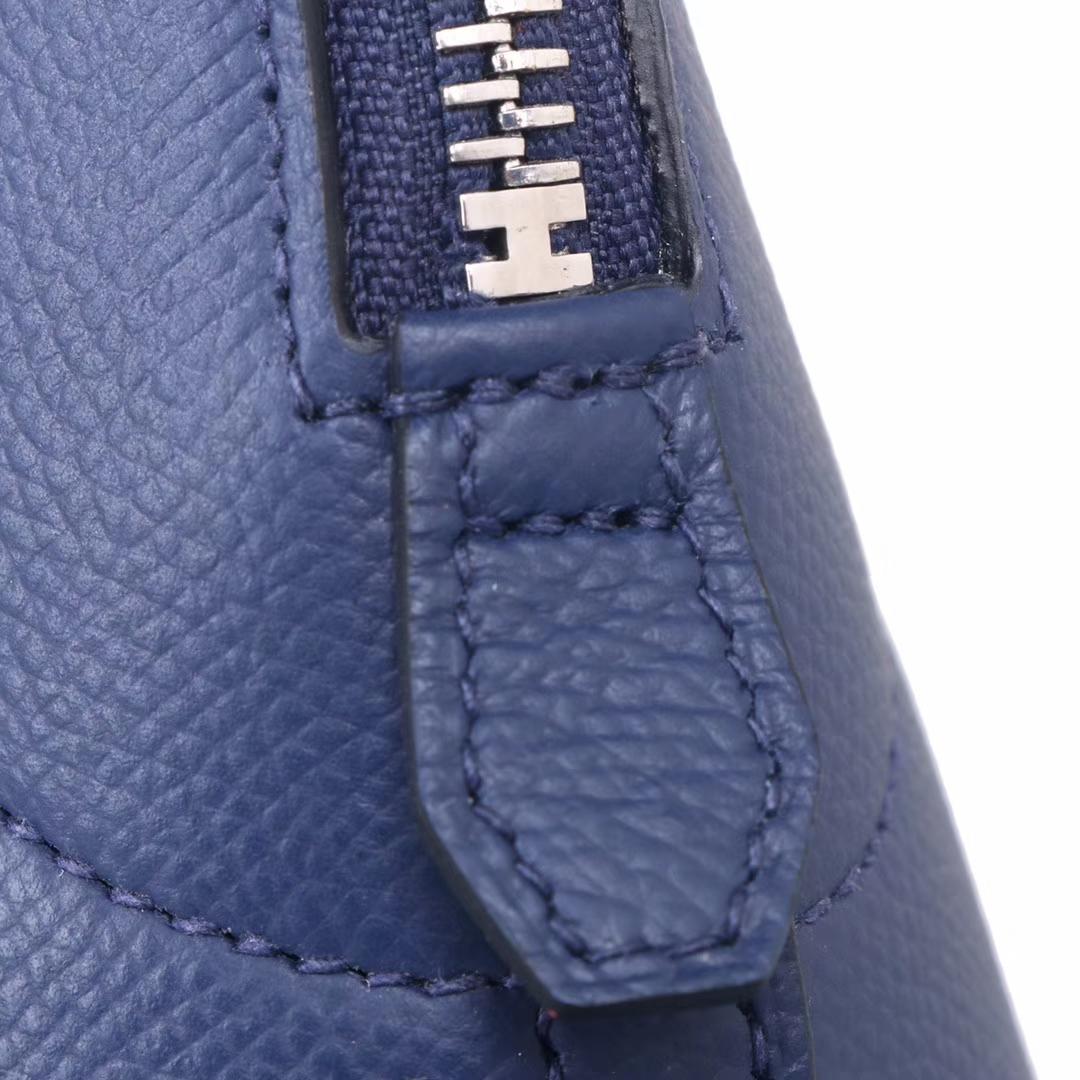 Hermès(爱马仕)Bolide保龄球包 宝石蓝 原厂御用Epsom皮 28cm
