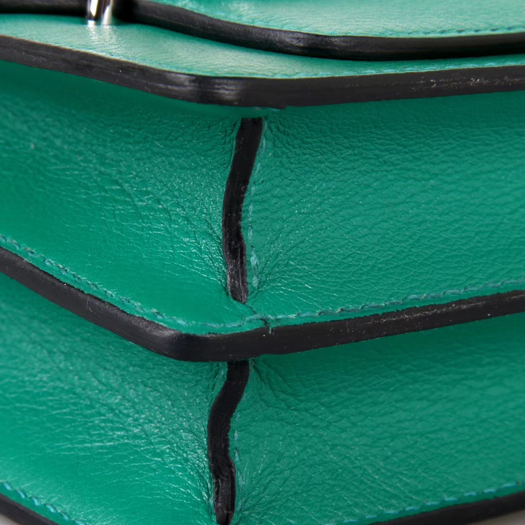 Hermès(爱马仕)roulis猪鼻 19银 丝绒绿 EVERCOLOR