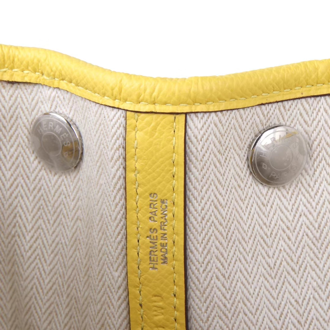 Hermès(爱马仕)Garden Party 花园包 那不勒斯黄 银扣 30CM