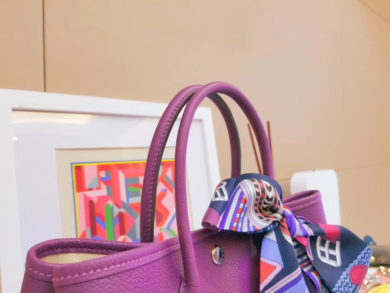 Hermès(爱马仕)Garden Party 花园包 薰衣草紫 Togo 银扣 30CM