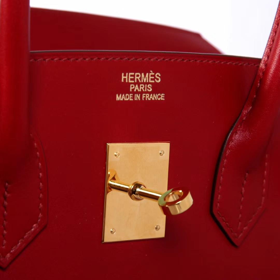 Hermès(爱马仕)birkin铂金包 酒红 BOX皮 35cm