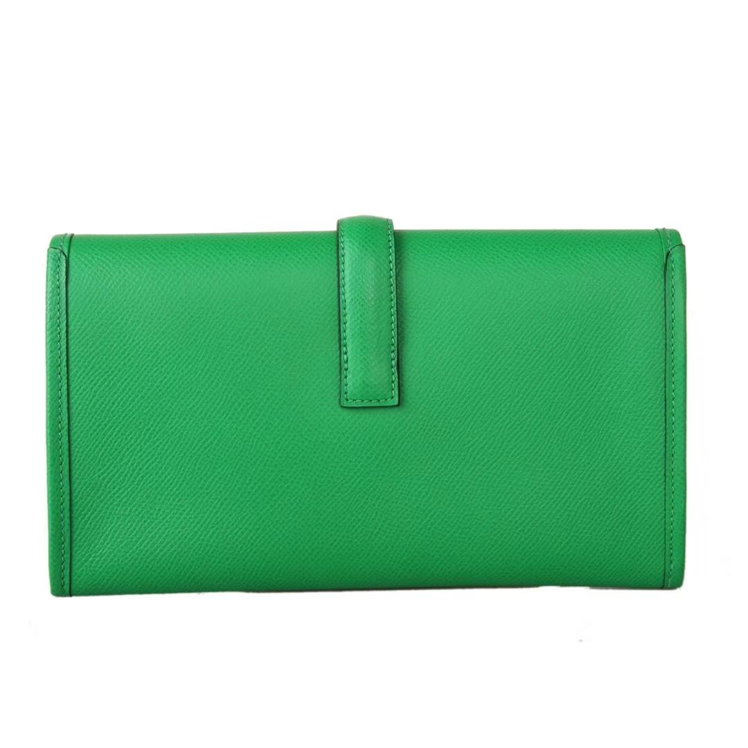 Hermès(爱马仕)Jige 手包 竹子绿 原厂御用epsom皮 22cm