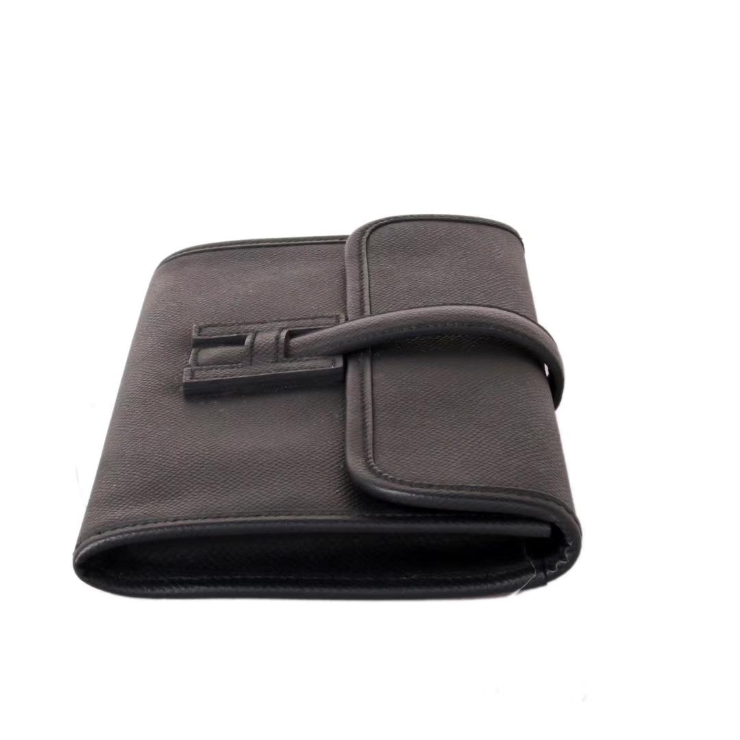 Hermès(爱马仕)Jige 手包  黑色 原厂御用epsom皮 22cm