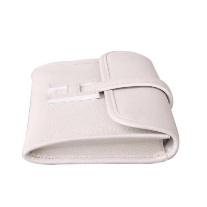 Hermès(爱马仕)Jige 手包 纯白 原厂御用epsom皮 22cm