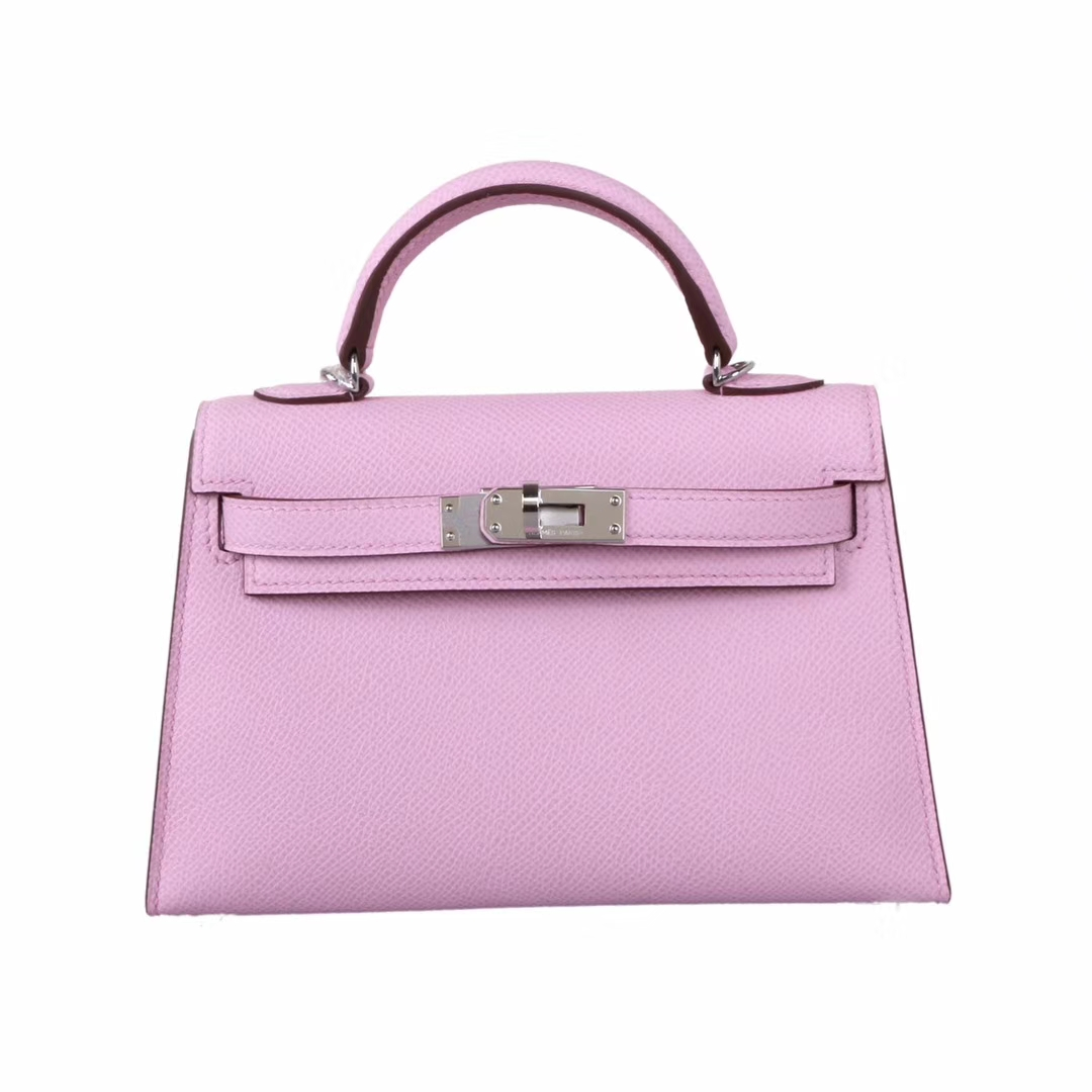 Hermès(爱马仕)mini Kelly二代 银扣 x9锦葵紫 epsom皮