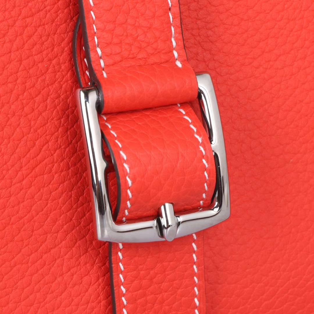 Hermès(爱马仕)halzan 30cm 火焰橙 togo