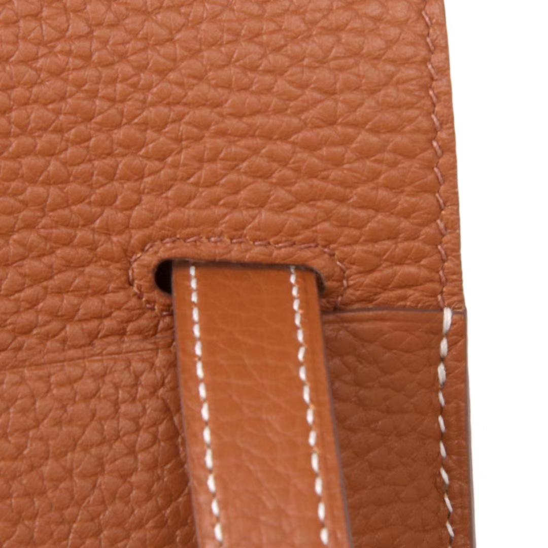 Hermès(爱马仕)halzan 30cm 2H金棕 togo