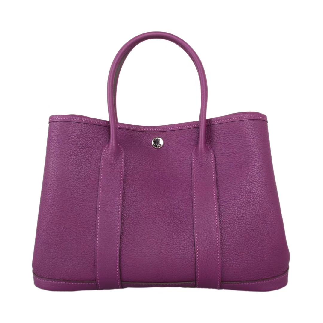 Hermès(爱马仕)garden party花园包 梦幻紫 togo 银扣 30CM