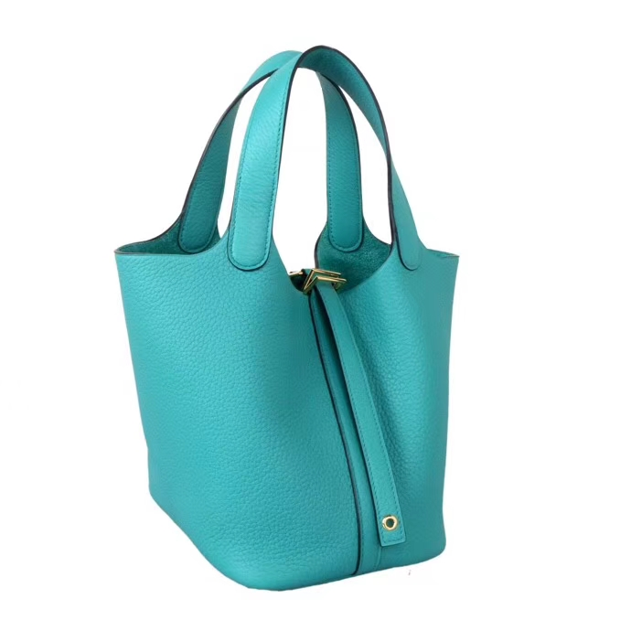 Hermès(爱马仕)Picotin菜篮包 U1维罗纳绿 togo 金扣 18cm