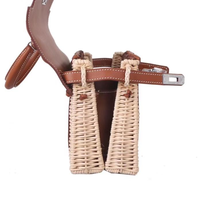 Hermès(爱马仕)Kelly picnic mini 野餐包 金棕色 22cm