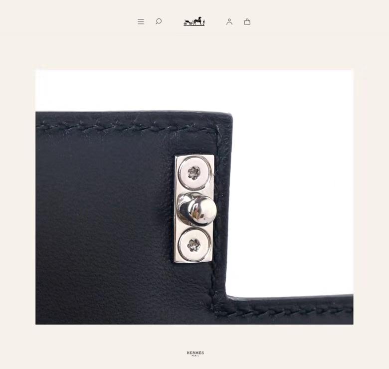 Hermès(爱马仕)Verrou锁链包插销包 黑色 BOX皮 银扣 17cm